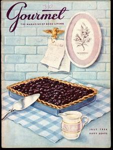 Gourmet Cover - July 1956 by Hilary Knight