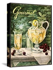 Gourmet Cover - June 1956 by Hilary Knight