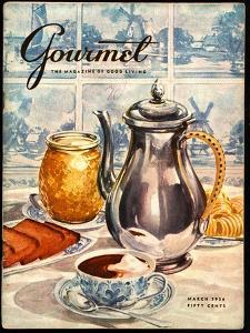 Gourmet Cover - March 1956 by Hilary Knight