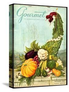 Gourmet Cover - November 1956 by Hilary Knight