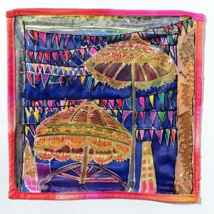 Balinese parasols, 2005 by Hilary Simon