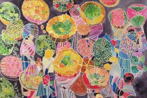 Baskets at Market by Hilary Simon