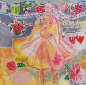 Fairy with Hearts and Flowers, 2006 by Hilary Simon