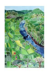 River Agung, Bali, 1996 by Hilary Simon