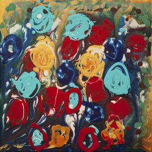 Abstract Flowers 3 - Canvas 2 by Hilary Winfield