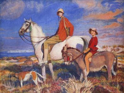 Hilda and Mary at Studland Bay, Dorset-George Spencer Watson-Giclee Print
