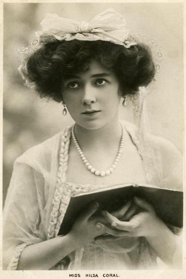 Hilda Coral, British Actress, C1900s-Lallie Charles-Giclee Print
