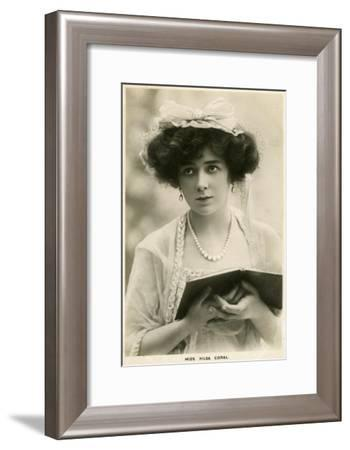 Hilda Coral, British Actress, C1900s-Lallie Charles-Framed Giclee Print