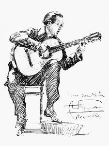 Andres Segovia (1893-1987) by Hilda Wiener