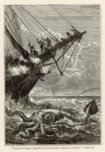 20,000 Leagues Under the Sea: Attacking a Giant Squid by Hildebrand