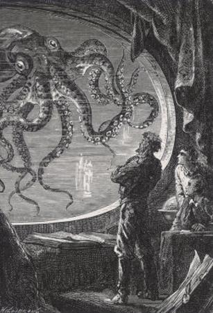 20,000 Leagues Under the Sea: Giant Squid Seen from the Safety of the Nautilus