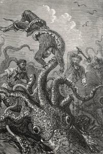 20,000 Leagues Under the Sea: The Squid Claims a Victim by Hildebrand