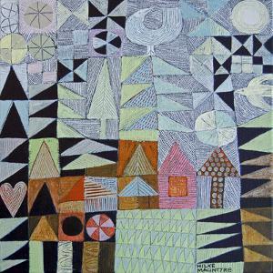 House Amongst Fir Trees by Hilke Macintyre