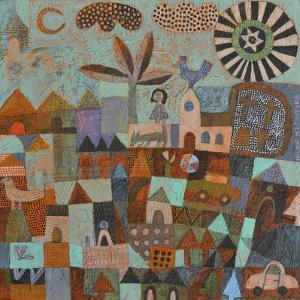 Town with Sun and Moon by Hilke Macintyre