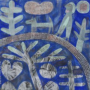 Walking the Dog - Blue by Hilke Macintyre