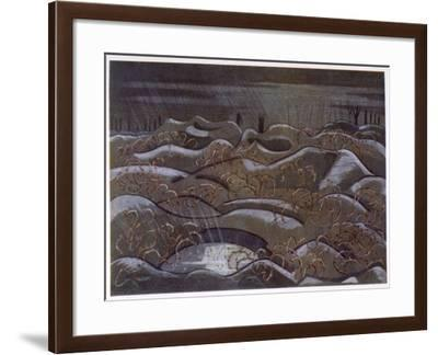 Hill 60 from the Cutting, British Artists at the Front, Continuation of the Western Front, c.1918-Paul Nash-Framed Giclee Print