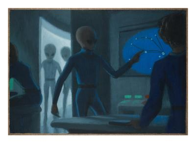 Hill Alien Abduction-Michael Buhler-Giclee Print