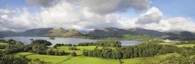 Hill and Lake, Derwent Water, Keswick, English Lake District, Cumbria, England--Photographic Print