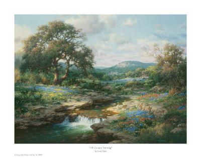Hill Country Morning-Larry Dyke-Art Print
