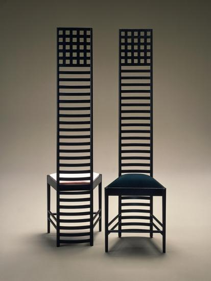 Hill House Chairs, 1903-1905-Charles Rennie Mackintosh-Giclee Print