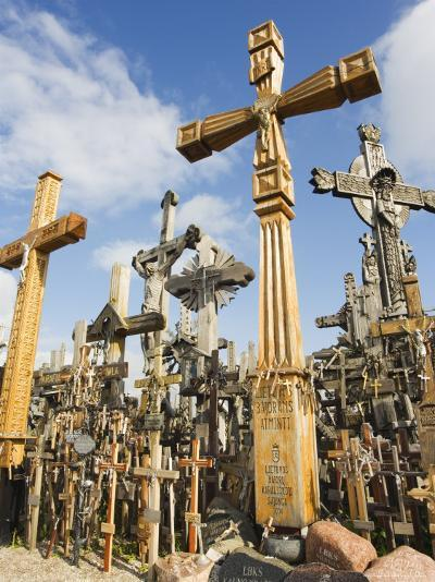 Hill of Crosses, a Tradition of Planting Crosses Since the 14th Century, Baltic States-Christian Kober-Photographic Print