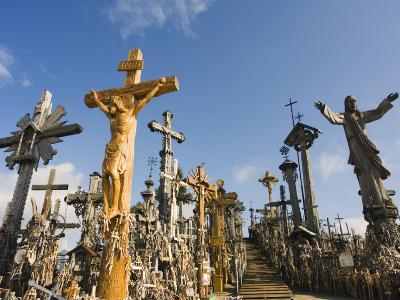 Hill of Crosses (Kryziu Kalnas), Thousands of Memorial Crosses, Lithuania, Baltic States-Christian Kober-Photographic Print