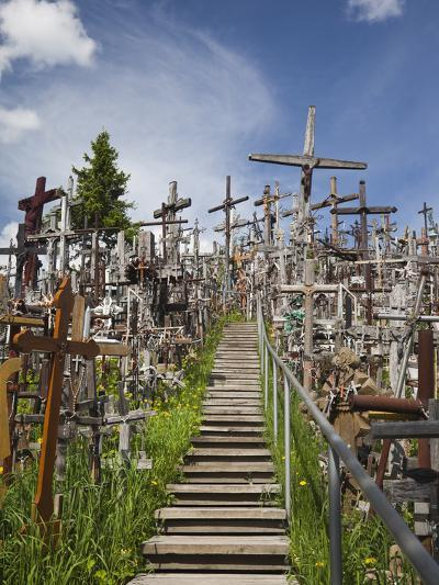 Hill of Crosses, Siauliai, Central Lithuania, Lithuania-Walter Bibikow-Photographic Print