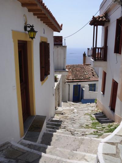Hill Town of Glossa, Skopelos, Sporades Islands, Greek Islands, Greece, Europe-Robert Harding-Photographic Print