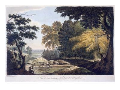 Hill Village in the District of Bauhelepoor, 1787 (Aquatint)-William Hodges-Giclee Print