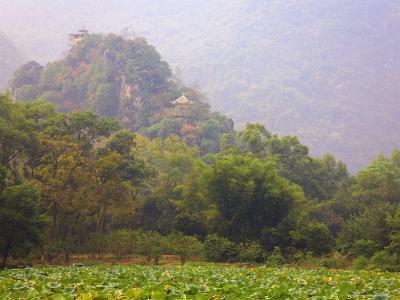 Hill with Chinese Pavillons, Yangshuo Park, Yangshuo, Guangxi Province, China, Asia-Jochen Schlenker-Photographic Print