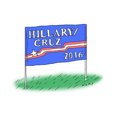 Hillary/Cruz 2016 - Cartoon-Kim Warp-Premium Giclee Print