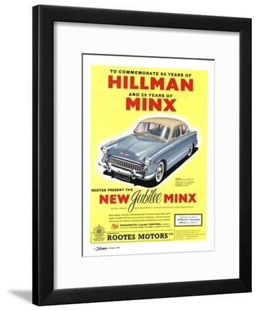 Hillman, Jubilee Edition Hillman Minx Cars, UK, 1950