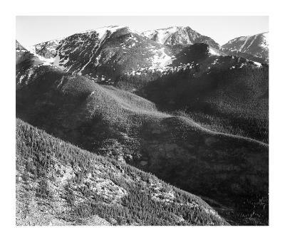 Hills and mountains, in Rocky Mountain National Park, Colorado, ca. 1941-1942-Ansel Adams-Art Print