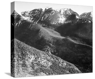 Hills and mountains, in Rocky Mountain National Park, Colorado, ca. 1941-1942-Ansel Adams-Stretched Canvas Print