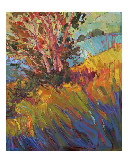 Hills in Quadtych (bottom right)-Erin Hanson-Art Print