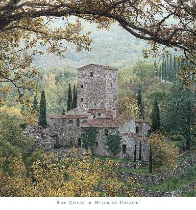 Hills of Chianti-Rod Chase-Art Print