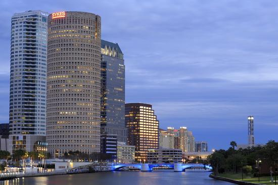 Hillsborough River and Skyline, Tampa, Florida, United States of America, North America-Richard Cummins-Photographic Print