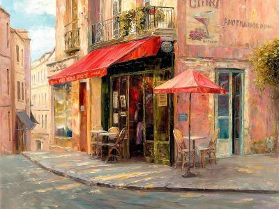 Hillside Café-Haixia Liu-Art Print