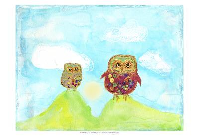 Hilltop Owls-Ingrid Blixt-Art Print
