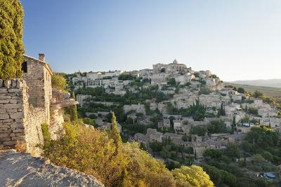 Hilltop Village of Gordes with Castle and Church at Sunrise, Provence-Alpes-Cote D'Azur, France-Markus Lange-Photographic Print