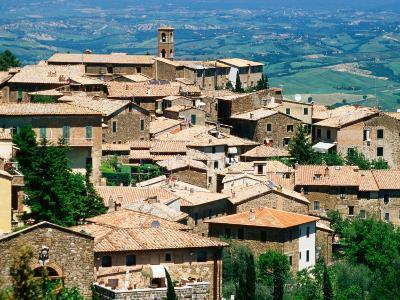 Hilltop Village of Montalcino Perched Above Val d'Orcia, Tuscany, Italy-David Tomlinson-Photographic Print