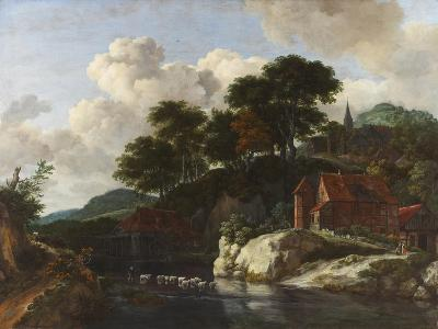 Hilly Landscape with a Watermill, c.1670-Jacob Isaaksz^ Or Isaacksz^ Van Ruisdael-Giclee Print