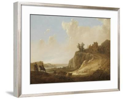 Hilly Landscape with the Ruins of a Castle-Aelbert Cuyp-Framed Art Print