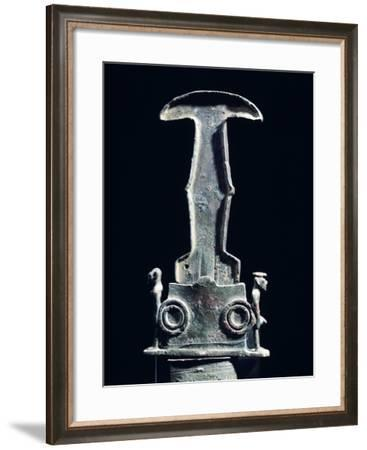 Hilt of a Sword and Scabbard, Bronze Artifacts from Vulci--Framed Giclee Print
