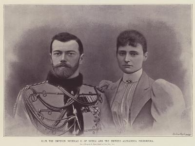 Him the Emperor Nicholas II of Russia and the Empress Alexandra Feodorovna--Giclee Print