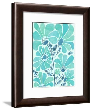 Himalayan Blue Poppies-Modern Tropical-Framed Art Print