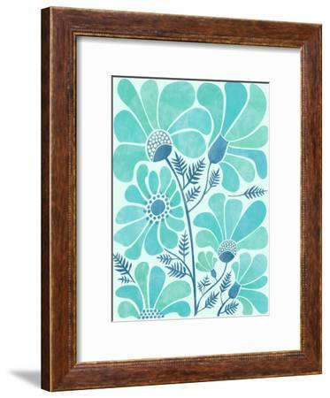 Himalayan Blue Poppies-Modern Tropical-Framed Art Print