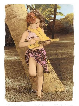 Hawaiian Ukulele Girl, Hawaii, USA