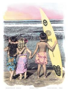 Surf Keikis, (Children) by Himani