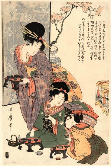 Hinamatsuri-Kitagawa Utamaro-Giclee Print